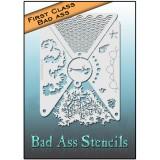 First Class Bad Ass Stencil 2003 Mermaid