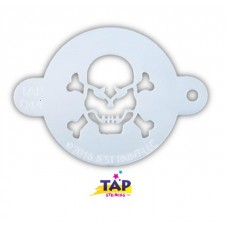 TAP Face Painting Stencils #44 - Skull with Crossbones