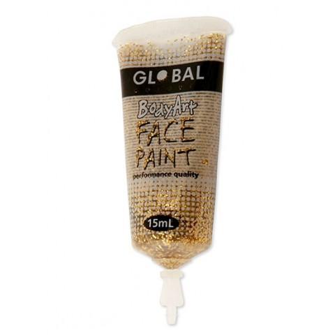 Bodyart Glitter Paint - Gold 15ml