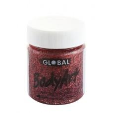 Bodyart Glitter Paint - Red 45ml