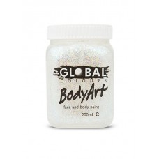 Bodyart Glitter Paint - Ultra White 200ml