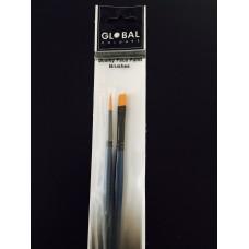 Global Body Art Brush 2Pk Set