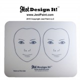 Jest Design It Face Painting Practice Board - 2 Front View Kids