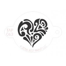 TAP Face Painting Stencils #68 - Ornate Heart