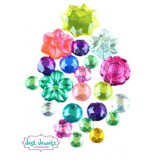 Jest Jewelz - Assorted Round & Flower Gems (1/2 Cup, Approx. 345 Pieces)